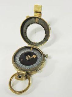 WWI Ed Koehn 1915 Verners Compass - Vintage Prismatic Trench Compass, Belgium, Trench, Wwii, Bracelet Watch, Vintage, Ebay, World War Ii, Watch