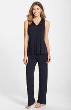 72f4b273ab Midnight by Carole Hochman Charmeuse Trim Jersey Pajamas (Nordstrom  Exclusive) available at  Nordstrom
