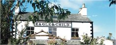 The Eagle & Child Inn, Staveley in the Lake District - great, traditional Lakeland pub with roaring log fire in winter and riverside beer garden for summer. Good food and real ales.