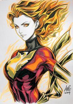 """Dark Phoenix - Jean Grey by Artgerm Jean Grey Phoenix, Phoenix Art, Dark Phoenix, Phoenix Force, Marvel Films, Marvel Art, Ms Marvel, Captain Marvel, Hulk Marvel"