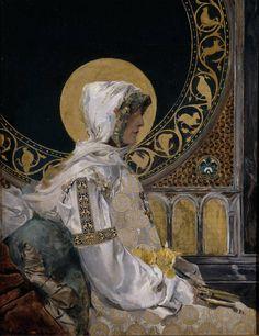 Joaquín Sorolla y Bastida, Santa en Oración, 1888