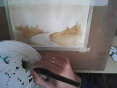 Acuarela paso a paso, primer ejercicio, tu primera acuarela: Como Pintar...