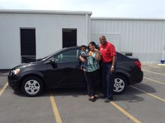 This 2015 Chevrolet Sonic has been approved by this cutie pie, Jace, who was all smiles on his trip to our dealership. His grandmother, Katrina Scott of Gautier, just took ownership of it earlier today. She is pictured with Jace and Kevin Randolph, her Sales Consultant. We appreciate your business, Katrina!