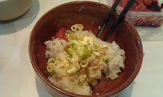 不味そう飯: ネギマヨご飯。ネギを刻んでマヨネーズと混ぜた物である。ツナマヨはおいしそうなのだが、ネギマヨは貧乏臭...