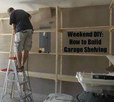 DIY-How to Build Garage Shelving