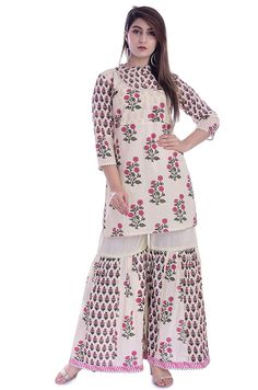 Indian Bollywood Designer Embroidery Kurta And Sharara With Dupatta Set,Diwali Special dress,Christmas Special,Women Kurta With Sharara set