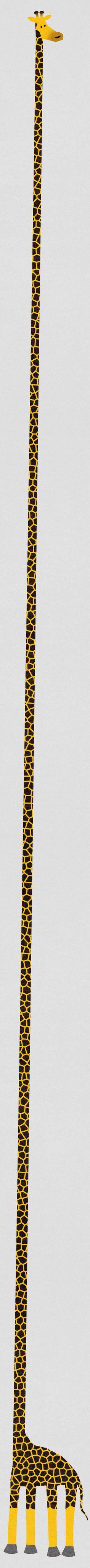 Maravillosa forma de poner a una jirafa...jaja