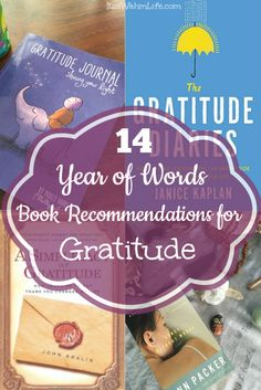 14 year of words book recommendations for gratitude. itsawahmlife.com