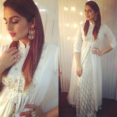 """""""For the Pro Kabaddi League .. dressed in all white ready to sing the National Anthem #proud styled by @sanjanabatra makeup #ashima"""""""