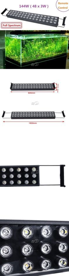 Animals Fish And Aquariums: 144W Dimmable Led Aquarium Light Bar Full Spectrum For Fish Tank Reef 24 Long BUY IT NOW ONLY: $57.99
