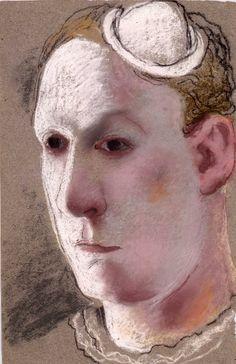Clown - self portrait 1925 by Pavel Tchelitchew (Russian/American 1898-1957)