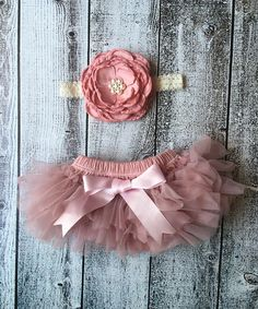 Another great find on #zulily! Antique Rose Ruffle Tutu Bloomers & Flower Headband #zulilyfinds