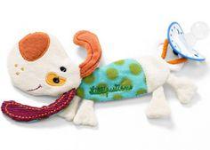 Lilliputiens Jef Hund Schnullerkette Schnullerband - Bonuspunkte sammeln, auf Rechnung bestellen, DHL Blitzlieferung!
