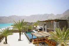 Located on the Northern Musandam Peninsula, in a secluded bay, just two hours away from Dubai, the Six Senses Zighy Bay Resort in Oman combines charming indigenous village style accommodations with a high level of comfort. The retreat is surrounded by mou Spa Design, Villa Design, Design Hotel, Beach Hotels, Hotels And Resorts, Luxury Resorts, Oman Hotels, Gili Lankanfushi, Walt Disney World Orlando