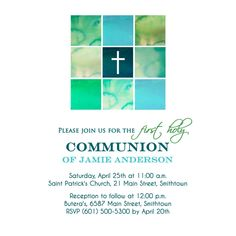 Artículos similares a Modern Cross Communion Invitations - First Holy Communion Invitation for Boys with a watercolor cross - Printable or Printed en Etsy Thank You Messages, Thank You Cards, Holy Communion Invitations, Seal Design, First Holy Communion, Return Address Labels, Invitation Set, Response Cards, Holi