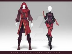 (CLOSED) Adoptable Outfit Auction 185 - 186 by Risoluce