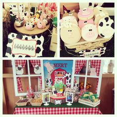 çiftlik doğumgünü cakepops ve cookie