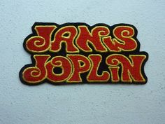 Janis Joplin Iron On Embroidered Patches Rock Hippie Band Patch