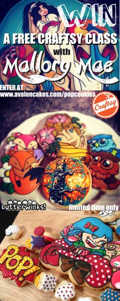 Enter to win a free class from cookie master Mallory Mae! www.avaloncakes.com/popcookies