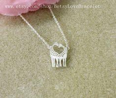 giraffe necklace in silver double giraffes necklace love giraffe necklace on Etsy, $11.99