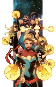 Artist of the Week: Elizabeth Torque Carol Danvers in her many iterations as Miss Marvel, Binary & Captain Marvel. Marvel Comics, Heros Comics, Comics Anime, Marvel Vs, Marvel Heroes, Fun Comics, Marvel Girls, Comics Girls, Character Drawing