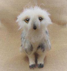 Snowy Owl Model of an Owl Needle Felted Owl Felt Owl