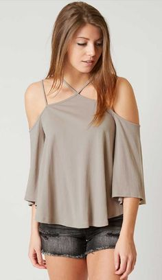 63b6ad7a3ef38 Lush Cold Shoulder Top - Women s Clothing