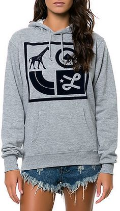 Lrg The Box Icons Hoodie in Heather Grey on shopstyle.com