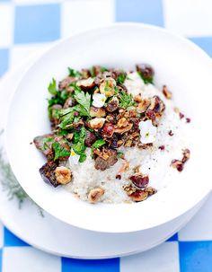 Risotto de quinoa, crème d'amande, mousserons et noisettes - Connaissez-vous Angèle Maeght, la chef naturelle bio et détox ? - Elle à Table