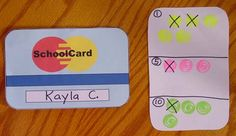 "Class credit cards to reward good behavior. Students earn ""credit"" and save in order to make a purchase at the end of the week (or whenever the teacher chooses). A great idea!"