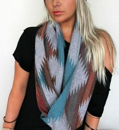 FREE SHIPPING Tribal Scarf Hipster Scarf Aztec by pebbyforevee, $45.95