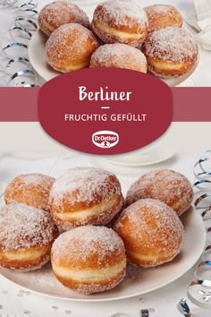 Donut - Berliners: Loose Berliners filled with fruity jams for New Year& Eve or Carnival - Easy Donut Recipe, Baked Donut Recipes, Baking Recipes, Cake Recipes, Dessert Recipes, Beignets, Oven Vegetables, Great Appetizers, Baking Ingredients