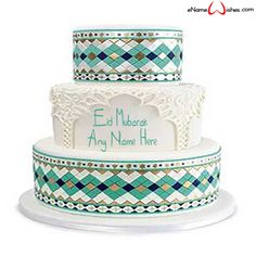 Write name on Colorful Eid Wish Name Cake with Name And Wishes Images and create free Online And Wishes Images with name online. - Happy Eid Mubarak Wishes  IMAGES, GIF, ANIMATED GIF, WALLPAPER, STICKER FOR WHATSAPP & FACEBOOK