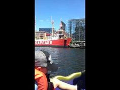 Parker Jax Ward & I on a dragon boat in the Chesepeake Bay in the Inner ...