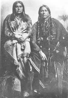 Quanah Parker and one of his wives