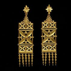 19th century earrings from England
