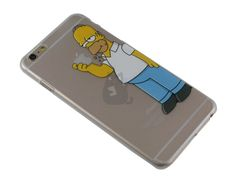 Capa Iphone 6 Plus Homer Simpson Comendo Maçã - SmartCases - Acessórios para celulares e tablets :) Capa Iphone 6 Plus, Capas Iphone 6, Smartphone, Homer Simpson