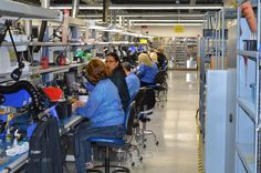 One of many TASER production lines where it all comes together to begin saving lives.