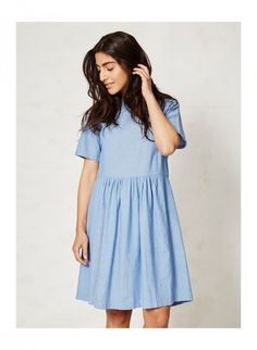 7af6ce7c826 KARA dámské letní šaty ze 100% biobavlny - světle modrá denim - fair trade  oblečení z biobavlny