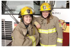 Female Firefighters in Training  #FilmHerStory #WriteHerStory