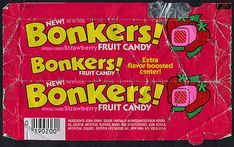 bonkers candy My favorite candy when I was little! 90s Childhood, My Childhood Memories, School Memories, Sweet Memories, Childhood Quotes, Childhood Characters, Vintage Candy, Vintage Toys, Retro Candy