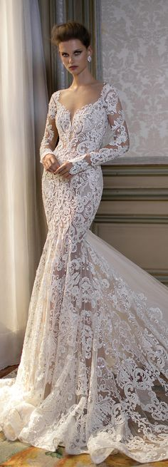Wedding Dress by Berta Spring 2016 Bridal Collection - Belle The Magazine wedding gown Berta Bridal Spring 2016 Collection – Part 1 - Belle The Magazine Beautiful Wedding Gowns, Beautiful Dresses, Lace Wedding, Wedding Hymns, Wedding Dj, Gown Wedding, Trendy Wedding, Summer Wedding, Wedding Ideas