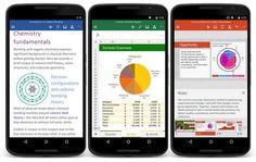 Actualización de Word, Excel y Powerpoint para Android introduce varias novedades importantes