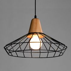 Wood Steel Pendant Light A Online Lighting