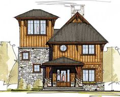 Plan W18769CK: Cottage, Northwest, Mountain, Vacation House Plans & Home Designs
