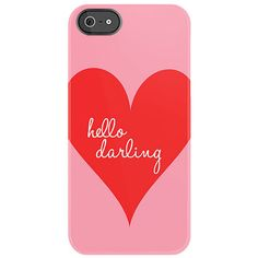 Hello Darling iPhone 5 Case in Blossom