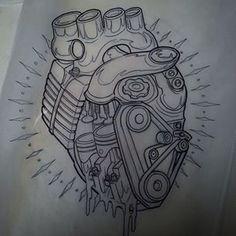 motorbike engine tattoo - Buscar con Google