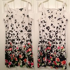 2 weeks only!!!Gorgeous Floral Dress Brand new without tags. Purchased at Macy's. Never worn except to try on. Super cute floral pattern, perfect for a wedding, Easter or other special occasion. Runs a tad small, probably closer to a 14. Looks great with a cardigan for the more modest woman. Cute square neckline and flattering pleats. FEBRUARY ONLY!!! American Living Dresses