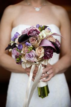 perfect purple wedding bouquet
