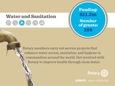 Rotary members build wells, install rainwater systems and teach community members how to maintain new infrastructure. Help Rotary improve health through clean water. http://ow.ly/IUpNM